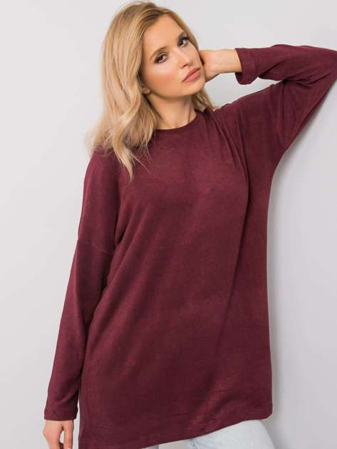 Bordowa bluzka Ayla