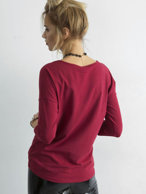 Bordowa bluzka April                              zdj.                              2