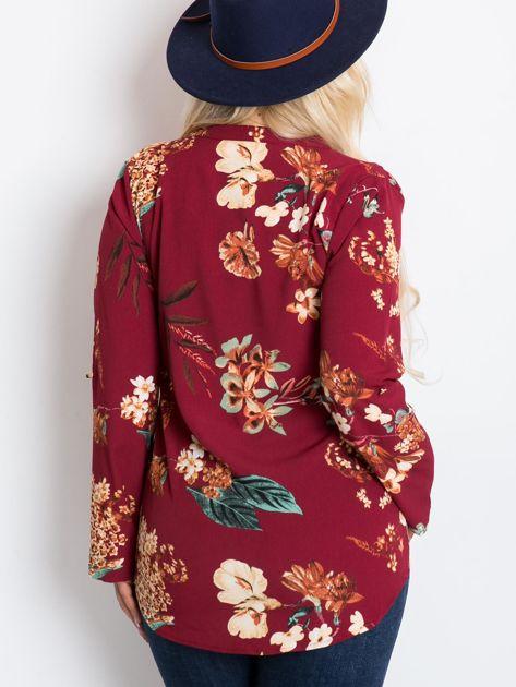 Bordowa bluzka plus size Spring                              zdj.                              2