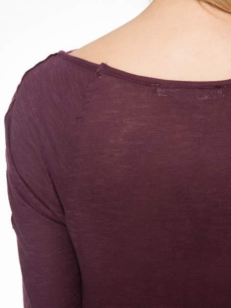 Bordowa bluzka z koronkową górą                                  zdj.                                  7