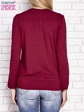 Bordowa bluzka ze ściągaczem na dole                                  zdj.                                  4