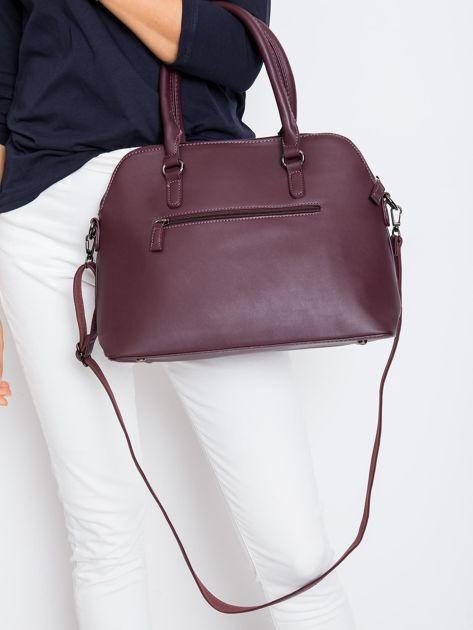 Śliwkowa damska torba z ekoskóry                              zdj.                              2