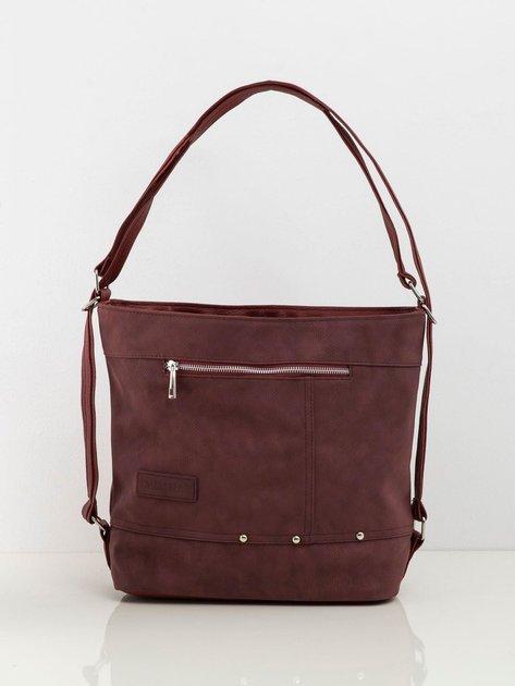 Bordowa damska torba z ekoskóry