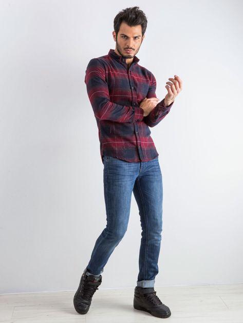 Bordowa koszula męska Esquire                              zdj.                              5