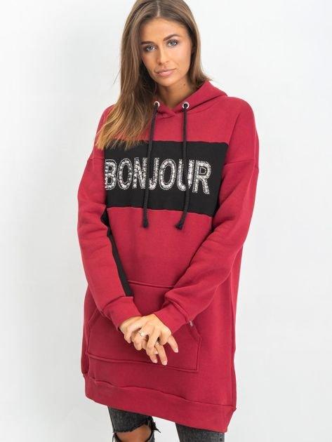 Bordowa sukienka Bonjour