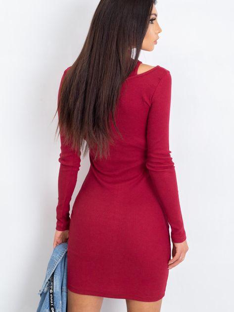 Bordowa sukienka Diaz                              zdj.                              2