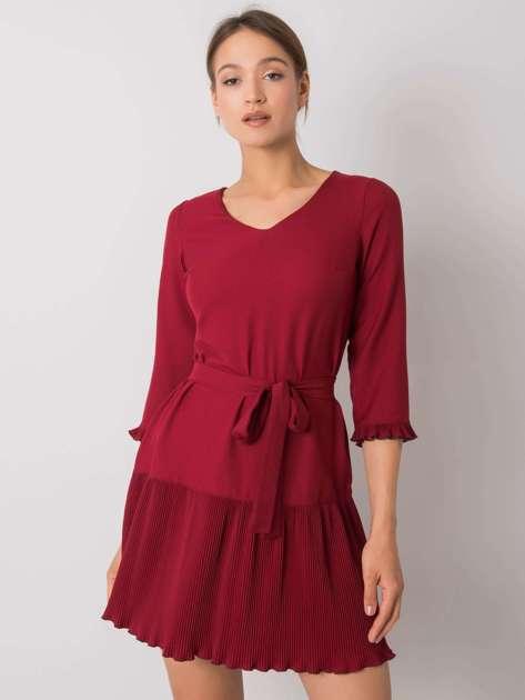 Bordowa sukienka Fleur