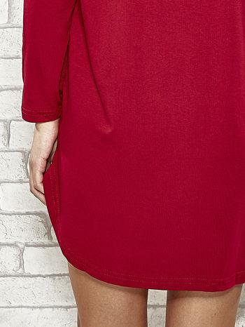 Bordowa sukienka z napisem NEW YORK CITY                                  zdj.                                  5