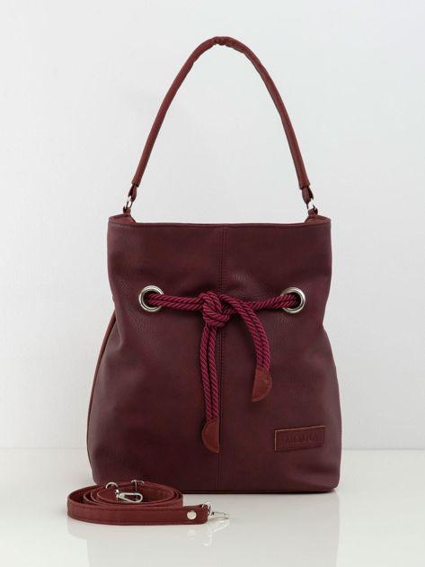 Bordowa torba worek