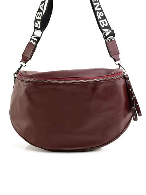 Bordowa torebka damska z ekologicznej skóry
