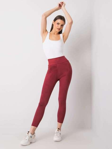 Bordowe legginsy damskie Aesha RUE PARIS