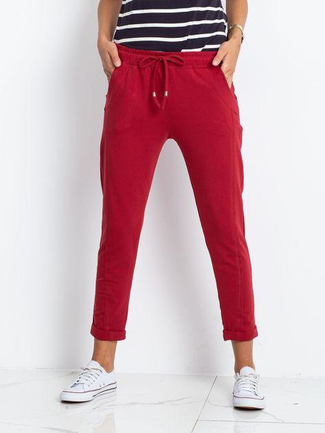 Bordowe spodnie Approachable                              zdj.                              1