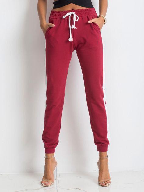 Bordowe spodnie Carter                              zdj.                              1