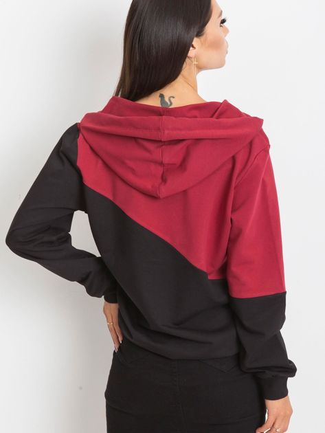 Bordowo-czarna bluza Havana                              zdj.                              2