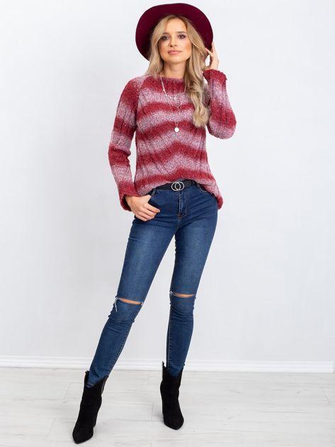 Bordowy sweter West                              zdj.                              4