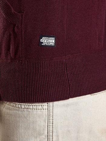 Bordowy sweter męski z guzikami Funk n Soul                                  zdj.                                  7