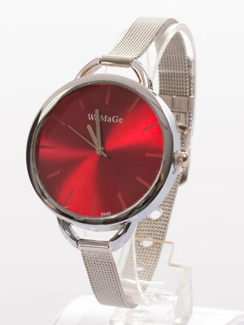 Bordowy zegarek damski na bransolecie                                  zdj.                                  2
