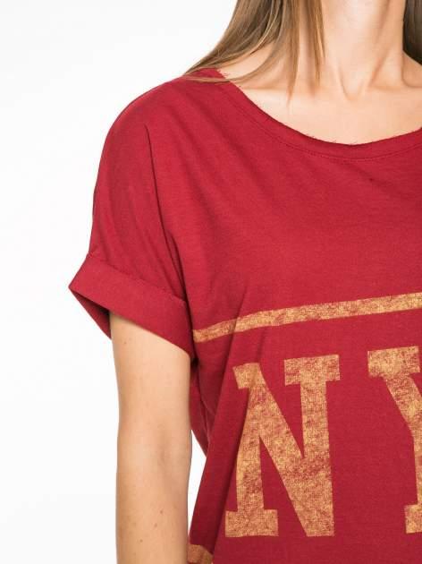 Borodowa bluzosukienka z nadrukiem NYC                                  zdj.                                  6