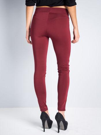Borodowe dwustronne legginsy skórzane                                  zdj.                                  7