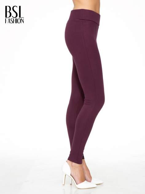 Borodowe modelujące legginsy z wysokim stanem i szwem wzdłuż nogawki                                  zdj.                                  3