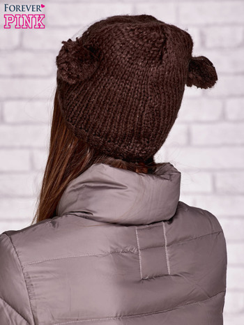 Brązowa czapka sowa z uszkami                                  zdj.                                  3