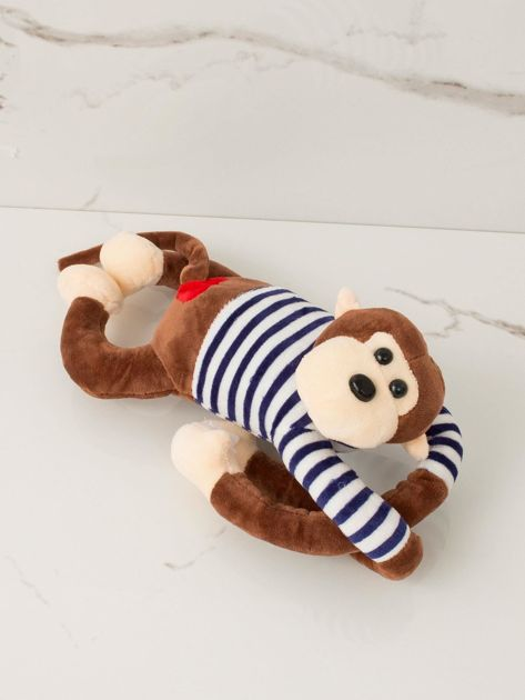 Brązowa maskotka Małpka                              zdj.                              1
