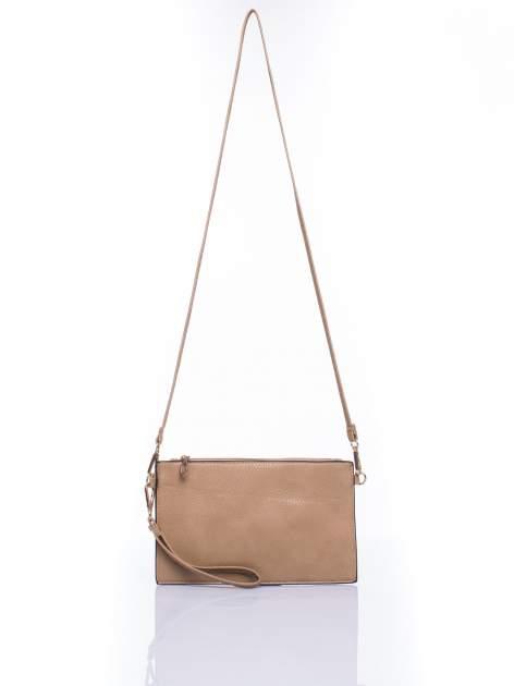 Brązowa prosta przewieszana torebka z uchwytem                                  zdj.                                  4