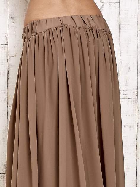 Brązowa spódnica maxi na gumkę w pasie                                  zdj.                                  4