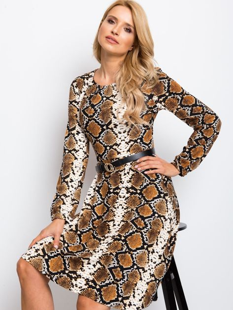 Brązowa sukienka Bossing                              zdj.                              1