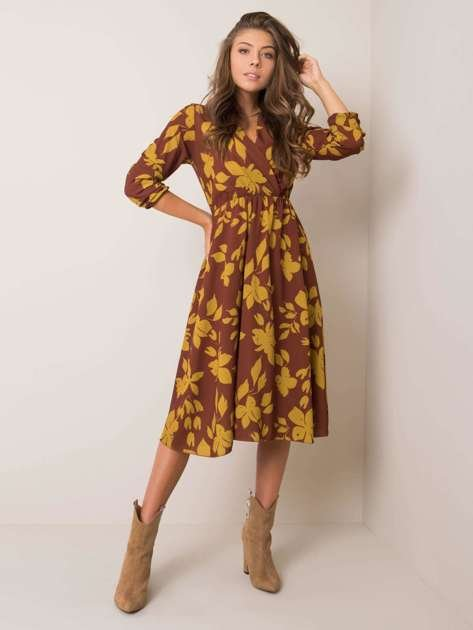 Brązowa sukienka Giuliana SUBLEVEL