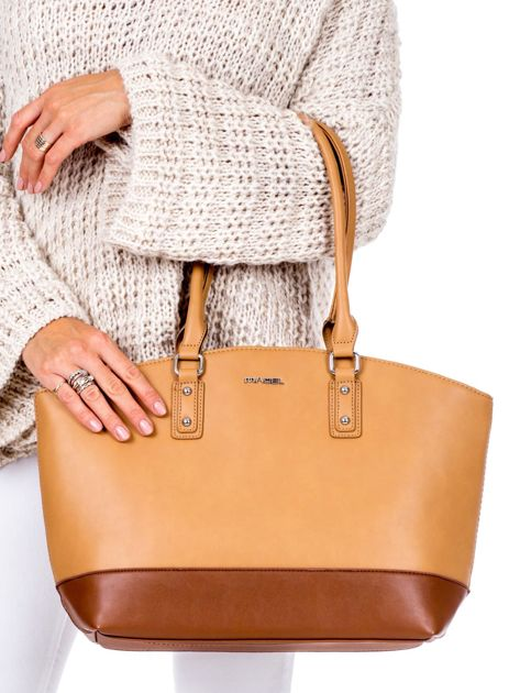 Brązowa torba damska two tone                              zdj.                              1