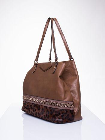 Brązowa torba z panterkowym motywem                                  zdj.                                  3