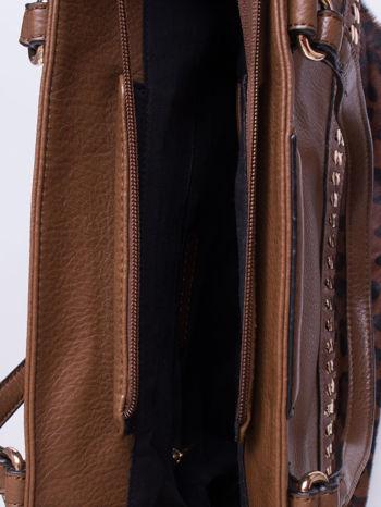Brązowa torba z panterkowym motywem                                  zdj.                                  4