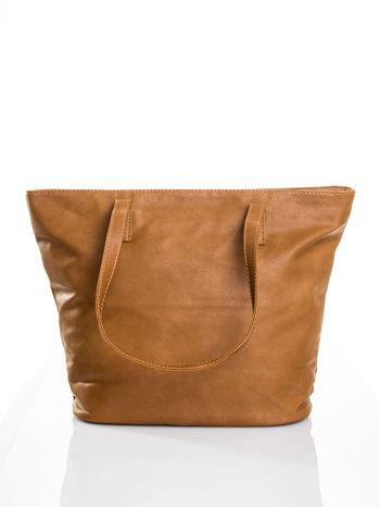 Brązowa torba ze złotym detalem                                  zdj.                                  3