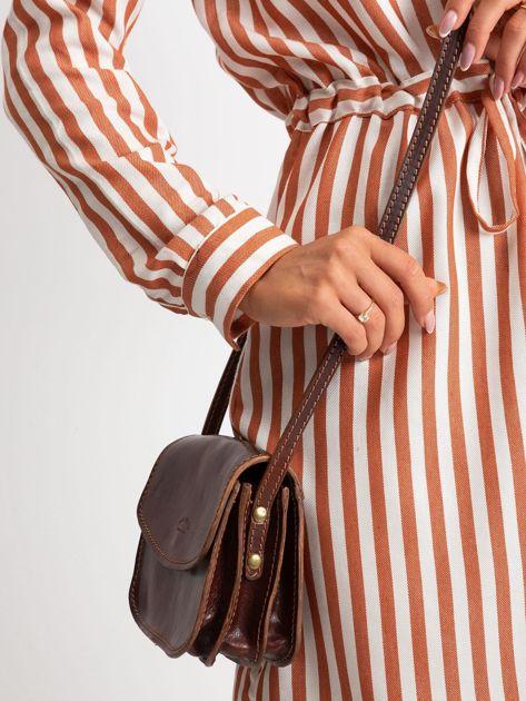 Brązowa torebka damska ze skóry                              zdj.                              5