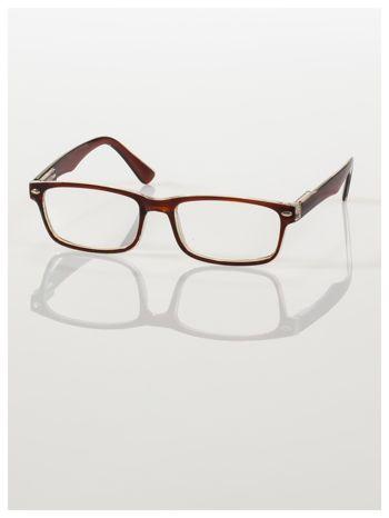 Brązowe okulary korekcyjne +2.0 D ,model WAYFARER do czytania z systemem FLEX na zausznikach +GRATIS PLASTIKOWE ETUI I ŚCIERECZKA Z MIKROFIBRY                                  zdj.                                  3