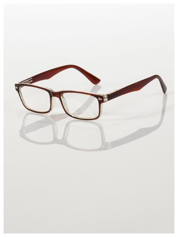 Brązowe okulary korekcyjne +2.0 D ,model WAYFARER do czytania z systemem FLEX na zausznikach +GRATIS PLASTIKOWE ETUI I ŚCIERECZKA Z MIKROFIBRY                                  zdj.                                  2
