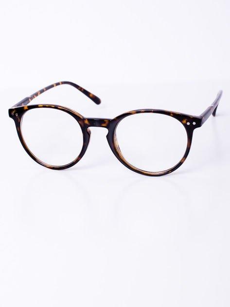 Brązowe owalne okulary zerówki potterki