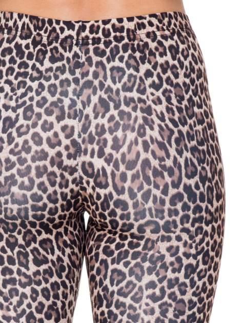 Brązowe panterkowe legginsy                                  zdj.                                  6