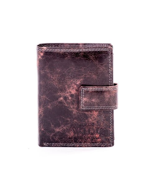 Brązowy cieniowany portfel męski ze skóry naturalnej                              zdj.                              1