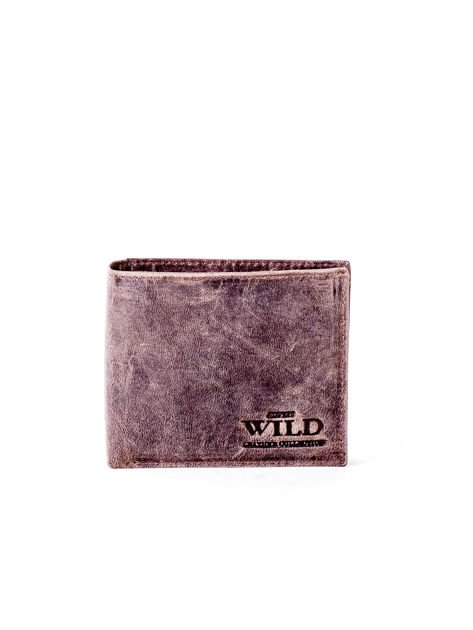 Brązowy miękki portfel męski ze skóry naturalnej                               zdj.                              1