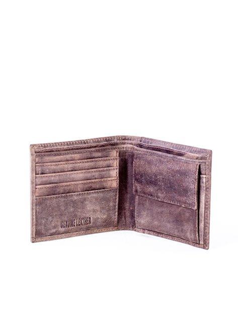Brązowy miękki portfel męski ze skóry naturalnej                               zdj.                              4