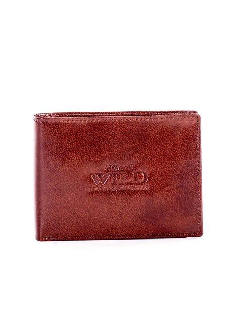 Brązowy miękki skórzany portfel dla mężczyzny                              zdj.                              1