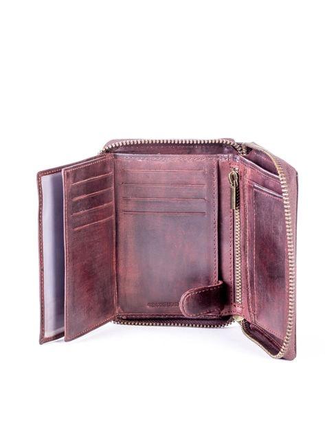 Brązowy portfel dla mężczyzny na suwak                              zdj.                              7