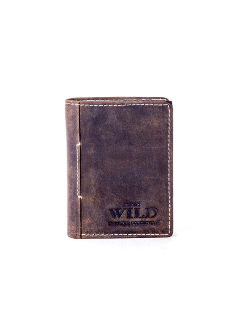 Brązowy portfel dla mężczyzny ze skóry naturalnej