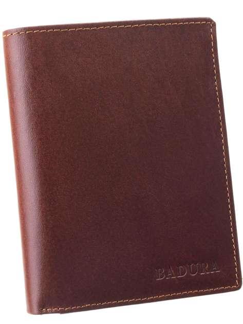 Brązowy portfel męski skórzany BADURA