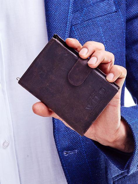 Brązowy portfel skórzany dla mężczyzny                               zdj.                              1
