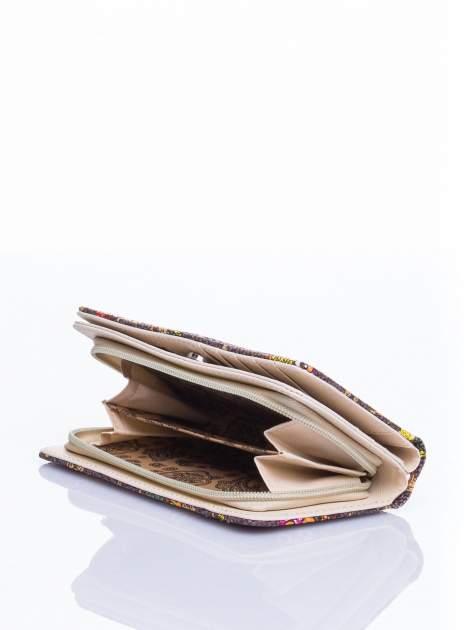Brązowy portfel w sówki                                  zdj.                                  4