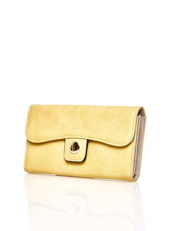 Brązowy portfel z zapięciem na magnes                                  zdj.                                  3