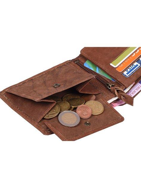 Brązowy portfel ze skóry naturalnej dla mężczyzny                              zdj.                              5